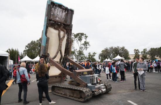Maker Faire artist displays his modified art car