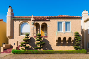 House with topiary